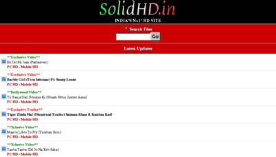 What Solidhd.in website looked like in 2017 (3 years ago)