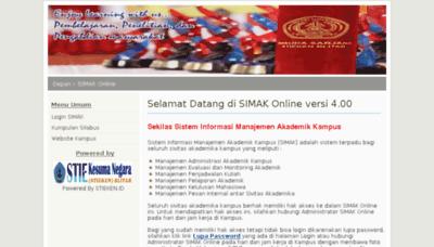 What Simak.stieken.ac.id website looked like in 2017 (3 years ago)
