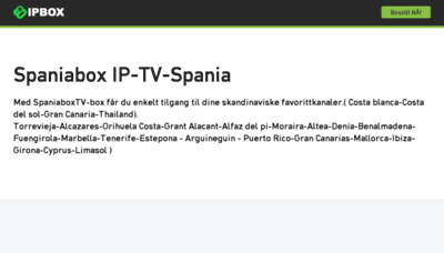What Spaniabox.tv website looked like in 2017 (3 years ago)