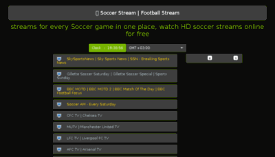 What Soccerstream.me website looked like in 2018 (3 years ago)