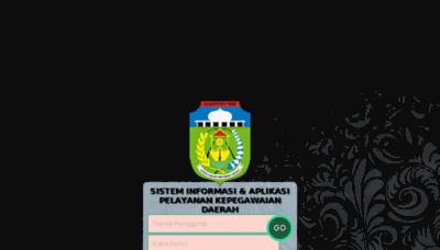 What Siapkd.tebokab.go.id website looked like in 2018 (3 years ago)
