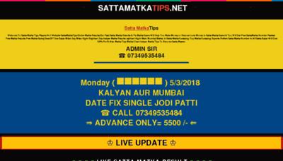 What Sattamatkatips.net website looked like in 2018 (3 years ago)