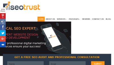 What Seotrust.us website looked like in 2018 (3 years ago)
