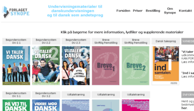 What Synope.dk website looked like in 2018 (3 years ago)