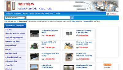What Sieuthiav.net website looked like in 2018 (3 years ago)