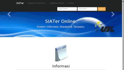 What Siater.ubl.ac.id website looked like in 2018 (3 years ago)