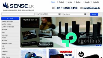 What Sense.lk website looked like in 2018 (3 years ago)