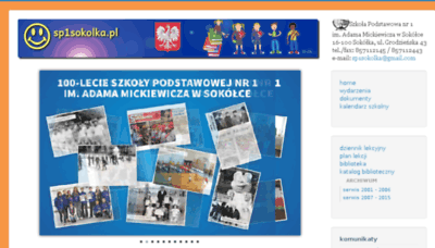What Sp1sokolka.pl website looked like in 2018 (3 years ago)
