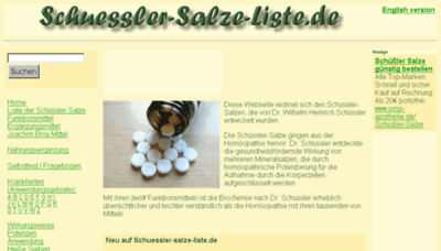 What Schuessler-salze-liste.de website looked like in 2018 (3 years ago)