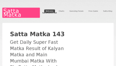 What Sattamatka1.net website looked like in 2018 (3 years ago)