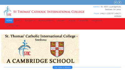 What Stthomascatholic.lk website looked like in 2018 (2 years ago)