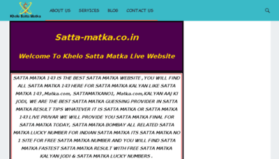 What Satta-matka.co.in website looked like in 2018 (2 years ago)