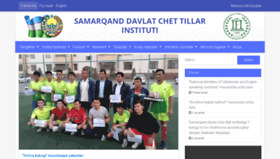 What Samdchti.uz website looked like in 2018 (2 years ago)