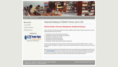 What Simak.stieken.ac.id website looked like in 2018 (2 years ago)