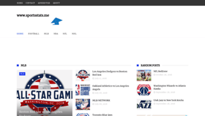 What Sportsstats.me website looked like in 2019 (2 years ago)