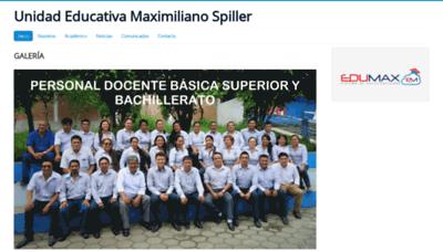 What Spiller.edu.ec website looked like in 2019 (2 years ago)