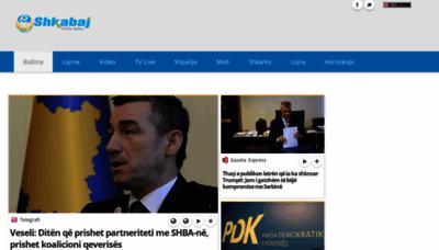 What Shkabaj.net website looked like in 2019 (2 years ago)