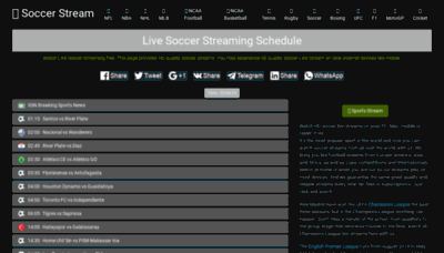 What Soccerstream.me website looked like in 2019 (2 years ago)