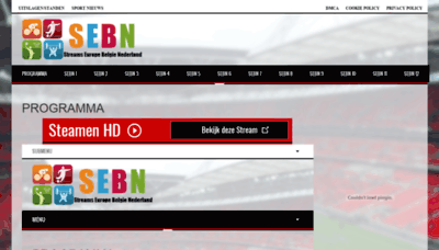 What Sebn.live website looked like in 2019 (2 years ago)