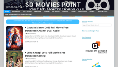 What Sdmoviespoint.club website looked like in 2019 (2 years ago)
