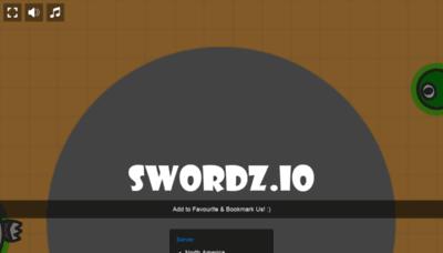 What Swordz.io website looked like in 2019 (2 years ago)