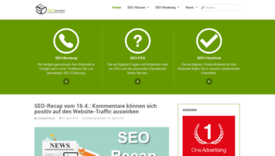 What Seo-suedwest.de website looked like in 2019 (2 years ago)