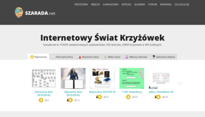 What Szarada.net website looked like in 2019 (2 years ago)