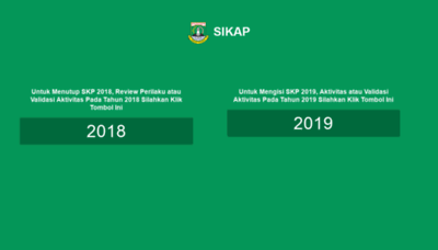 What Sikap.bantenprov.go.id website looked like in 2019 (2 years ago)