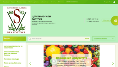 What Silyvostoka.ru website looked like in 2019 (1 year ago)