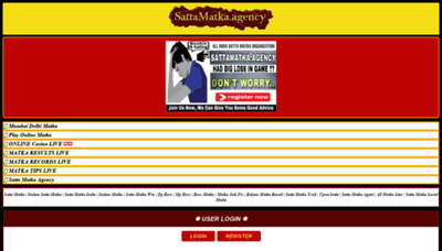 What Sattamatka.agency website looked like in 2019 (1 year ago)