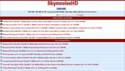 What Skymovieshd.bid website looked like in 2019 (2 years ago)
