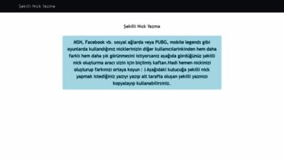What Sekillinickyazma.org website looked like in 2019 (1 year ago)