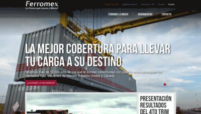 What Sicop.ferromex.com.mx website looked like in 2019 (1 year ago)