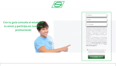What Servientrega.live website looked like in 2019 (1 year ago)