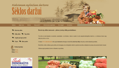 What Seklosdarzui.lt website looked like in 2019 (1 year ago)