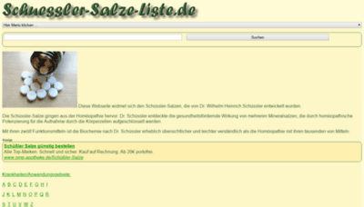 What Schuessler-salze-liste.de website looked like in 2019 (1 year ago)