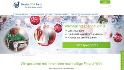What Steyler-bank.de website looked like in 2019 (1 year ago)