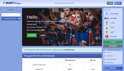 What Sbobetparlay.co website looked like in 2020 (1 year ago)
