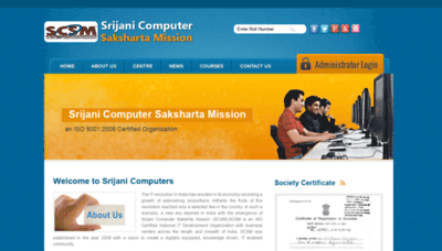 What Scsmindia.org website looked like in 2020 (1 year ago)