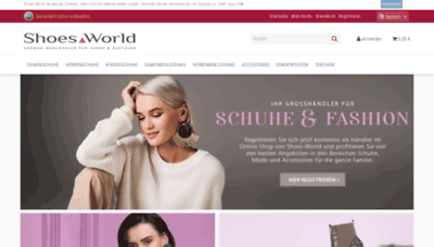 What Shoes-world.de website looked like in 2020 (1 year ago)