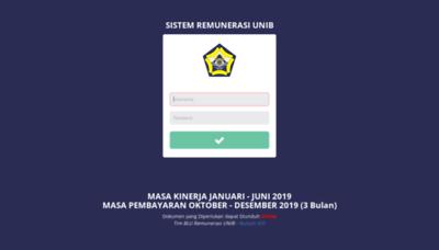 What Siremun.unib.ac.id website looked like in 2020 (1 year ago)