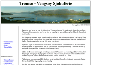 What Sjobu.no website looked like in 2020 (1 year ago)