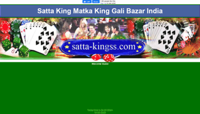 What Satta-kingss.in website looked like in 2020 (1 year ago)