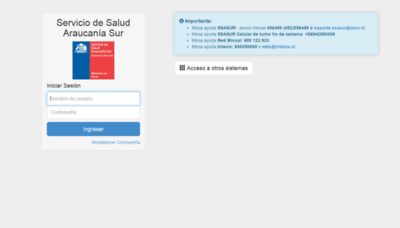 What Ssasur.cl website looked like in 2020 (1 year ago)
