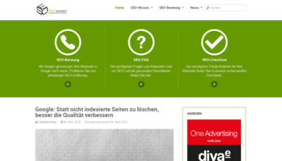 What Seo-suedwest.de website looked like in 2020 (1 year ago)