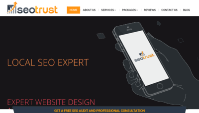 What Seotrust.us website looked like in 2020 (1 year ago)