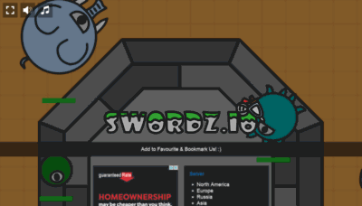 What Swordz.io website looked like in 2020 (1 year ago)