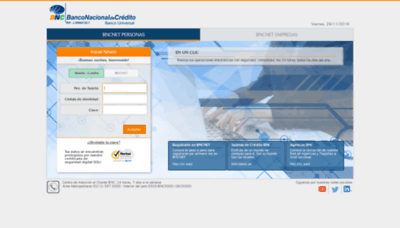 What Secure.bnc.com.ve website looked like in 2020 (1 year ago)