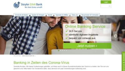 What Steyler-bank.de website looked like in 2020 (1 year ago)