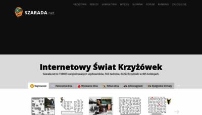 What Szarada.net website looked like in 2020 (1 year ago)